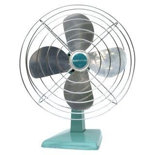 Vintage Turquoise Oscillating Fan #Chairish