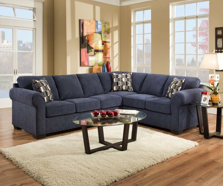 very similar to what my sofa will look like classic navy blue l shaped sectional