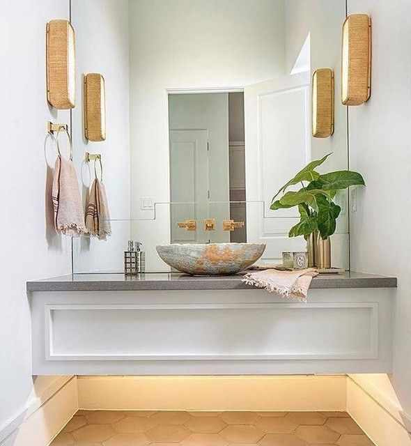 Circa Lighting Utopia Sconce bathroom