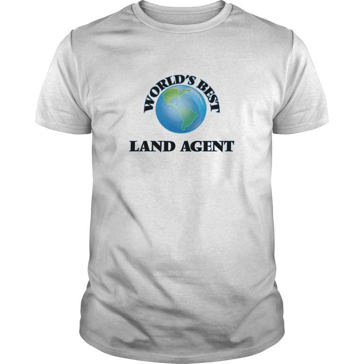 World's Best Land Agent T-Shirts, Hoodies. ADD TO CART ==► https://www.sunfrog.com/Jobs/Worlds-Best-Land-Agent-White-Guys.html?id=41382