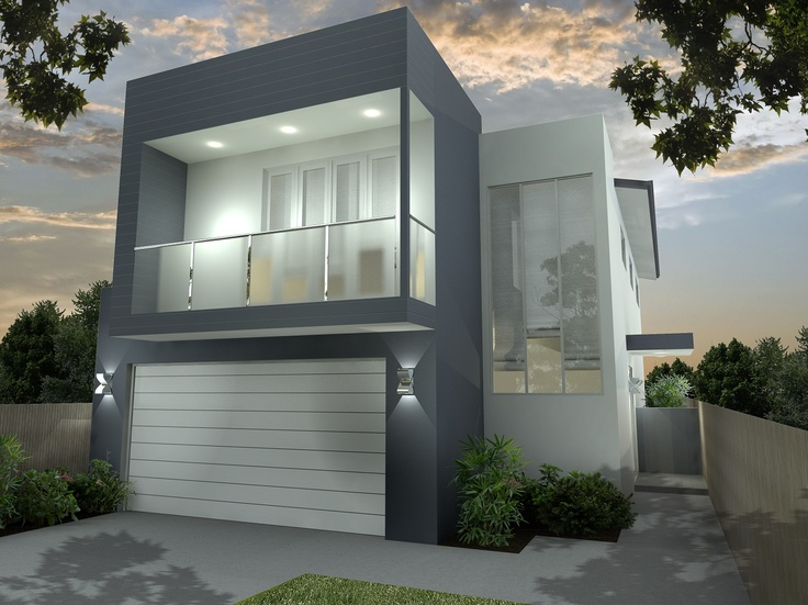Mode facade designed by kalka is perfect for the design with its side entry it epitomizes modernism and style for small lots in brisbane