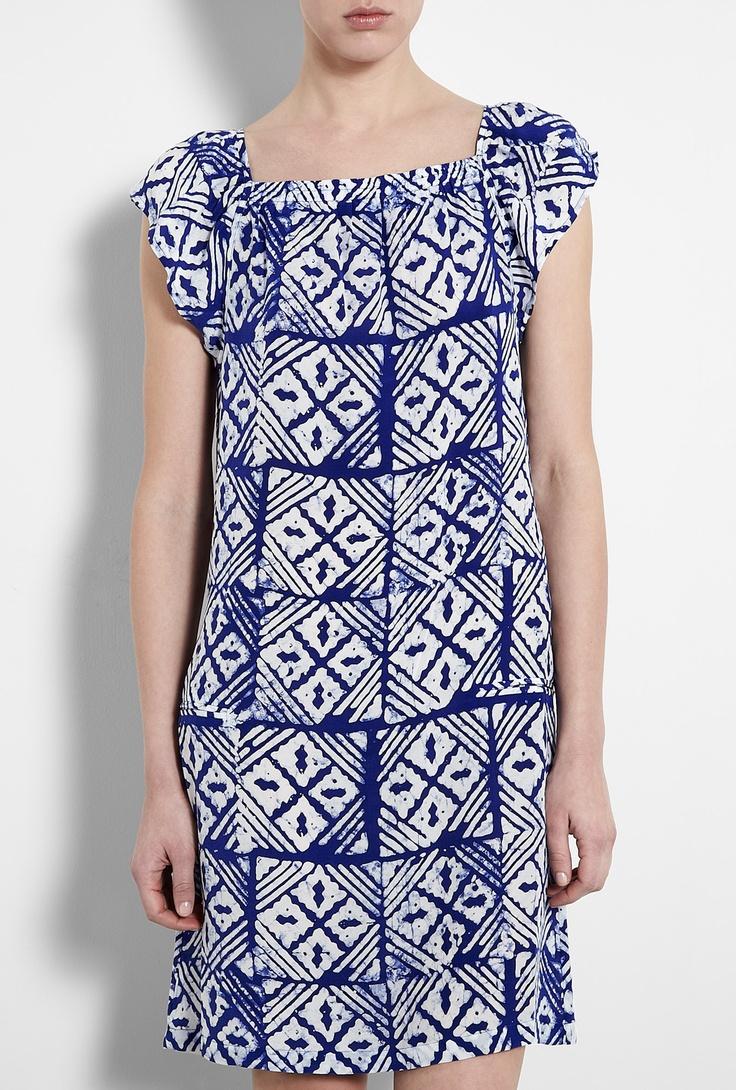 Batik Print Silk Dress by A.P.C