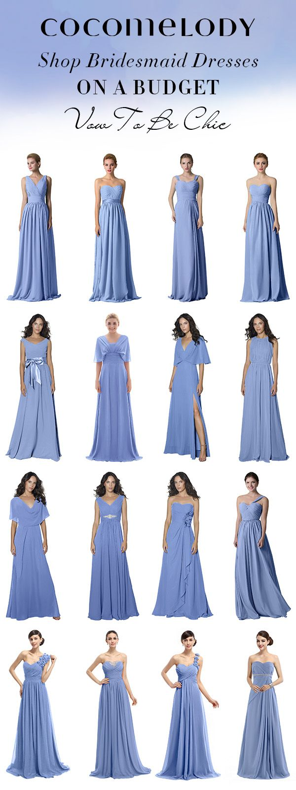 Shop Your Bridesmaid Dress On A Budget And Vow To Be Chic! #bridesmaiddresses #cocomelody #bluedresses #customdresses