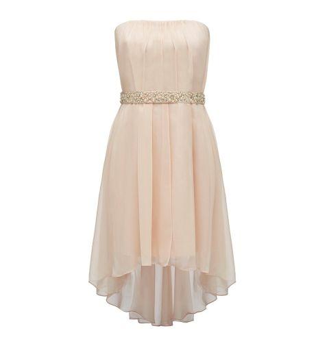 Lillian strapless beaded belt dress - Forever New