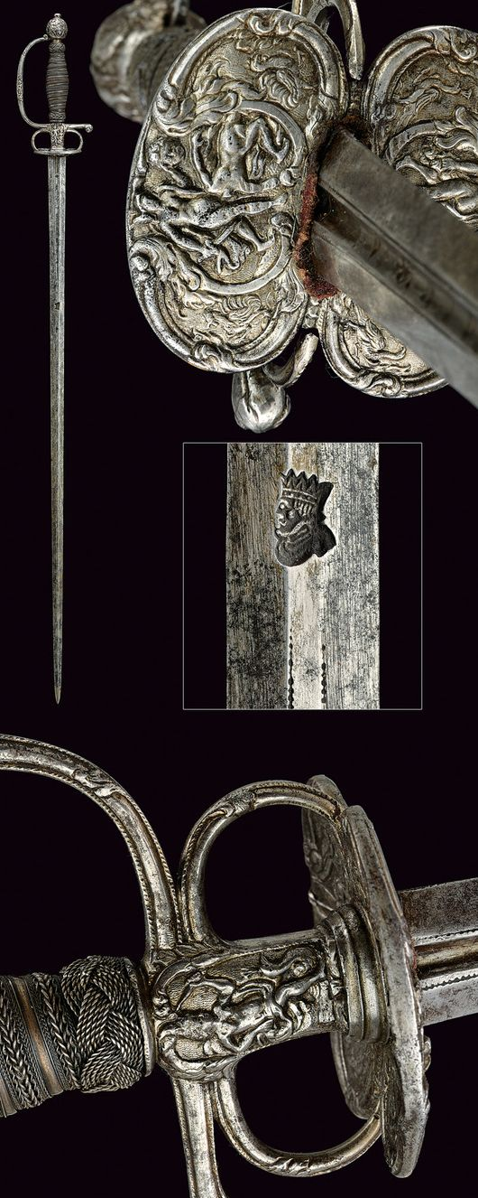 A fine small-sword,    provenance:	 	France dating:	 	first quarter of the 18th Century.