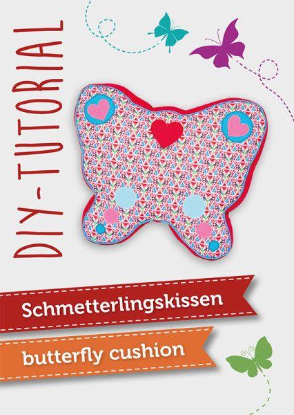 Nähanleitung & Schnittmuster für ein Schmetterlingskissen | butterfly cushion DIY sewing tutorial by pattyoo