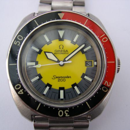 Omega Seamaster 200 Divers watch aka 'the Banana watch'. 1969