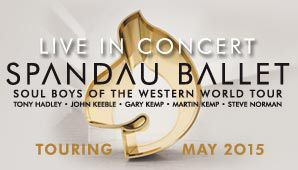 Spandau Ballet - Australia Tour 2015 - Sydney on Friday 15th May 2015 #SpandauBallet #1980s