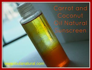 Carrot and Coconut Oil Natural Sunscreen - Loula Natural
