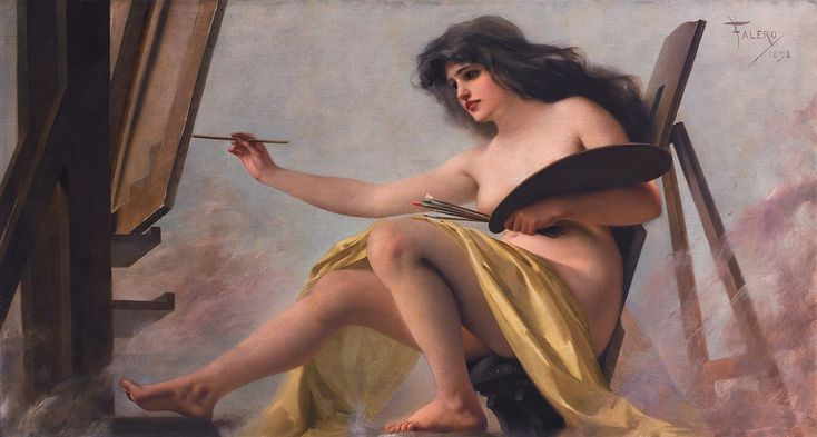 An Allegory of Art Luis Ricardo Falero Oil on Canvas 1892 http://ift.tt/2d0Fo9Y