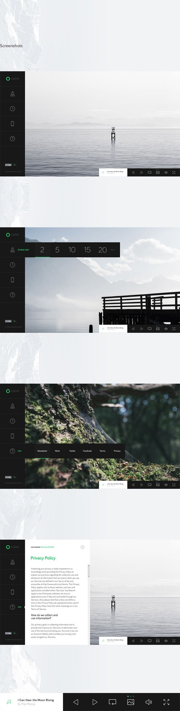calm.com concept on Web Design Served