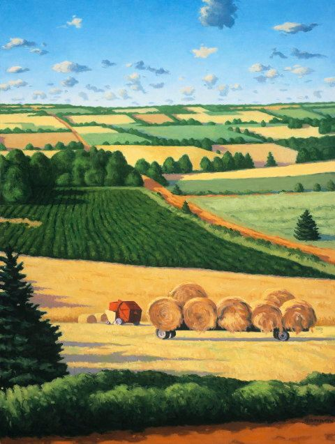 "Paul Hannon - ""The Haycart""; 10 H x 7.5 W, offset print"