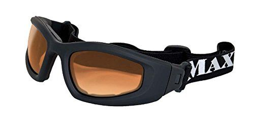Maxx Sunglasses Chaos Goggles Black Frame with HD Amber Lenses * You can find more details by visiting the image link.
