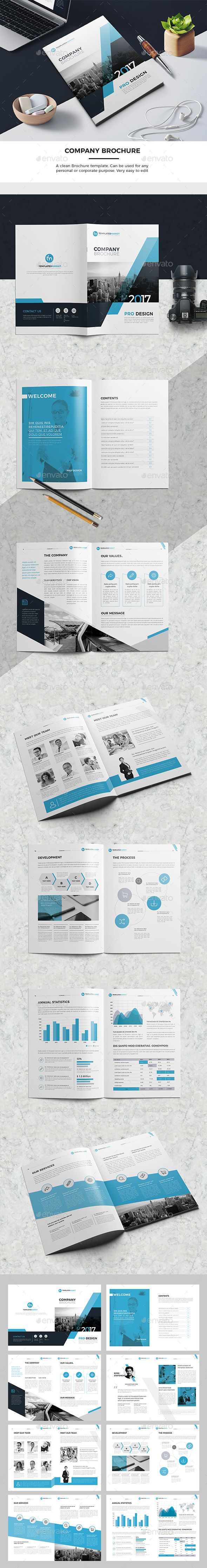 Corporate Business Company Brochure Template - #Corporate #Business #Company #Brochure #Template #Design. Download here: https://graphicriver.net/item/company-brochure/19525919?ref=yinkira