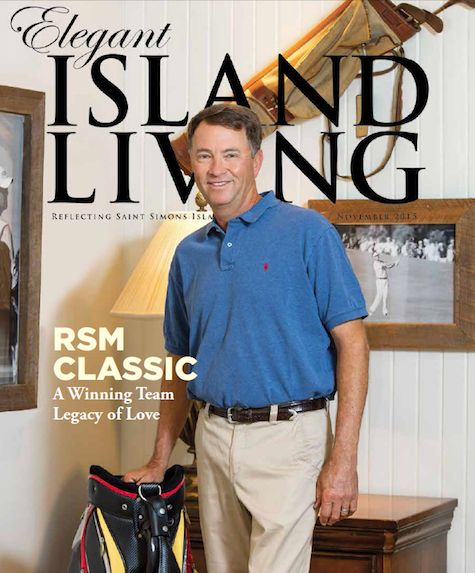 November 2015: PGA TOUR Veteran and 2 time Ryder Cup US Team Captain Davis Love III took some time out from RSM Classic preparations to pose for our November cover. Photo by John Toth, The Darkroom Photography.