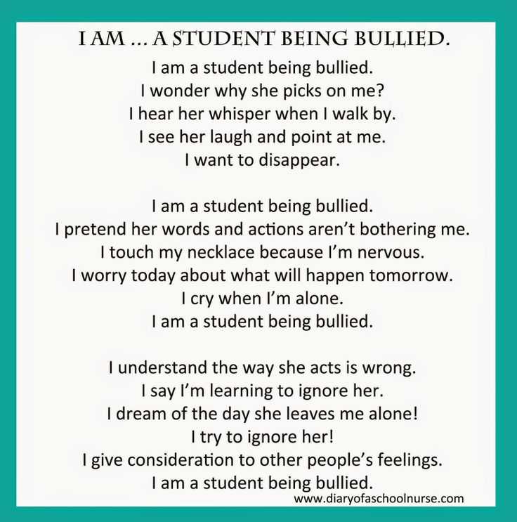 Bullying... Poem | Diary Of A School Nurse | Pinterest | Poem and ...