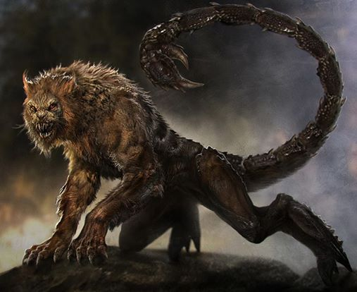 Manticore, creature design for Percy Jackson: Sea of Monsters (2013) by conceptual artist Sebastian Meyer.