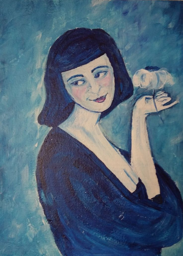 Kék asszony Molnár Andrea