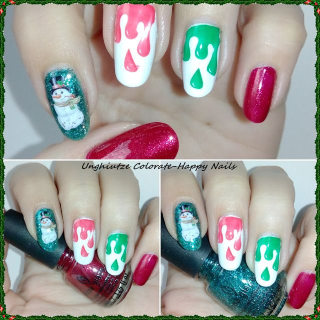 Unghiutze Colorate-Happy Nails: Nail Art Marathon-31.Drip Nails