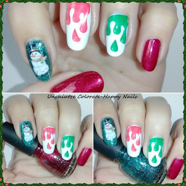 Unghiutze Colorate-Happy Nails: Nail Art Marathon-31.Drip Nails