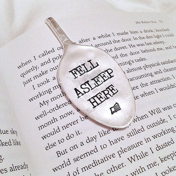 The cutest bookmark you ever did see!! Repurposed Iced Tea Spoon perfect for any book! The spoon bowl will be flattened and stamped and the