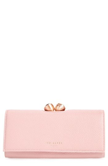 8aa9be6634432e Ted Baker London Pebbled Leather Matinée Wallet