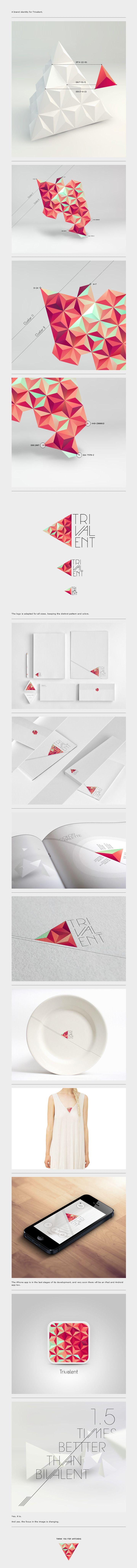 Trivalent Brand Identity | #stationary #corporate #design #corporatedesign #logo #identity #branding #marketing <<< repinned by an #advertising agency from #Hamburg / #Germany - www.BlickeDeeler.de | Follow us on www.facebook.com/BlickeDeeler