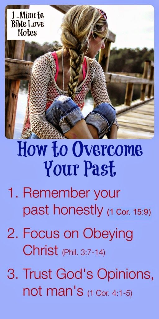 3 Steps for moving forward....from the Apostle Paul who knew what it was like to have a sinful past. ~ Click image and when it enlarges, click again to read this 1-minute encouragement.