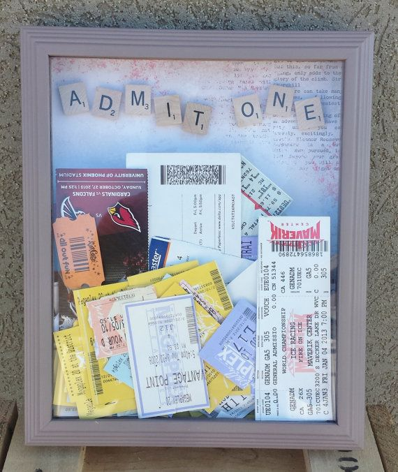 Ticket Holding Shadow box, I'm pretty sure I've already pinned this, but it's just so cute!