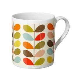 www.orlakiely.com - Ten Colour Stem Mug Multi 14 bucks! jenny want.