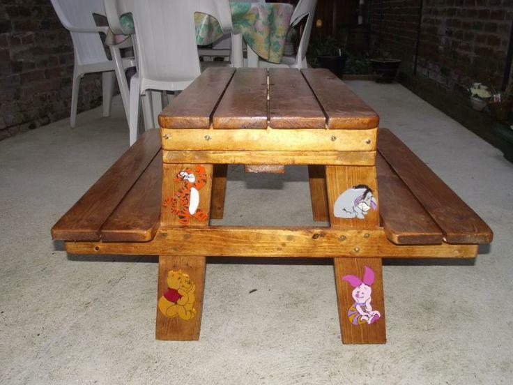 table picnic pour enfant Instructions de montage...