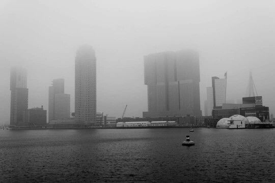 Rotterdam at fog