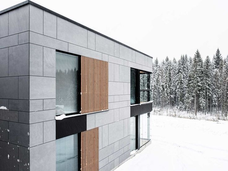 Private House In Finland Equitone Tectiva Facade Panels