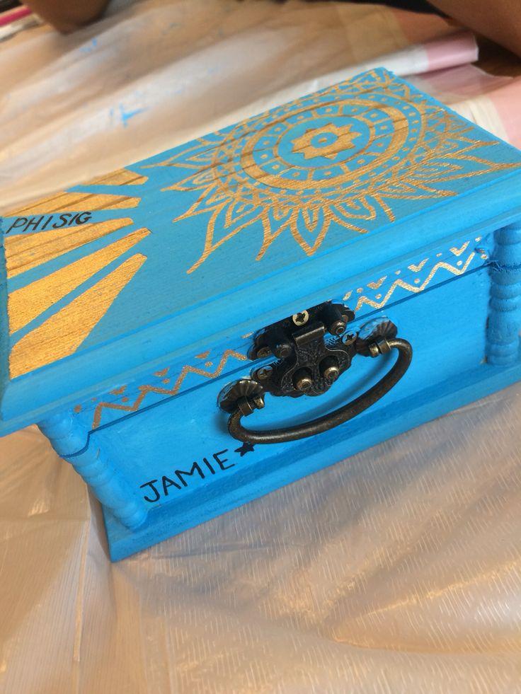 Sorority pin box