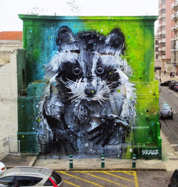 new Bordalo installation in Belem, Portugal, 4/15 (LP)