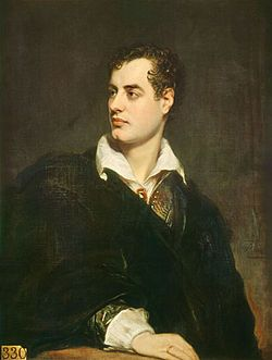 George Gordon Byron, 6th Baron Byron, later George Gordon Noel, 6th Baron Byron, FRS (22 January 1788 – 19 April 1824), commonly known simply as Lord Byron, was an English poet and a leading figure in the Romantic movement.
