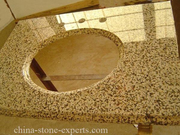 New Polished Cheap Chrysanthemum Yellow Crystal Granite Countertop (YQZ-GC1012) - Buy yellow crystal granite countertop, yelow granite countertop, cheap granite countertop Product on China Countertops & Stone Experts—Granite Stone Manufacturers