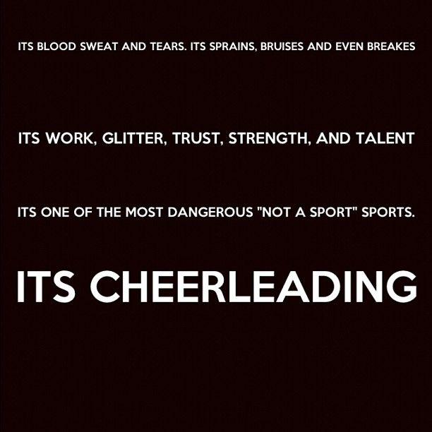 Cheerleading.   It is a sport.: Cheer Stuff, Cheer Quotes, Cheer ️, Cheer 3, Cheer Thing, Cheerleading 3, Cheer Life