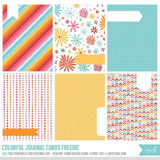 This site has a TON of free Project Life printables! Print right from this page! Crafty Hobby House