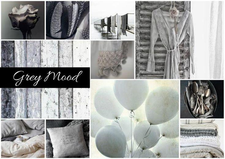 Grey Inspired Colour Moodboard Created By Mutlu Mood