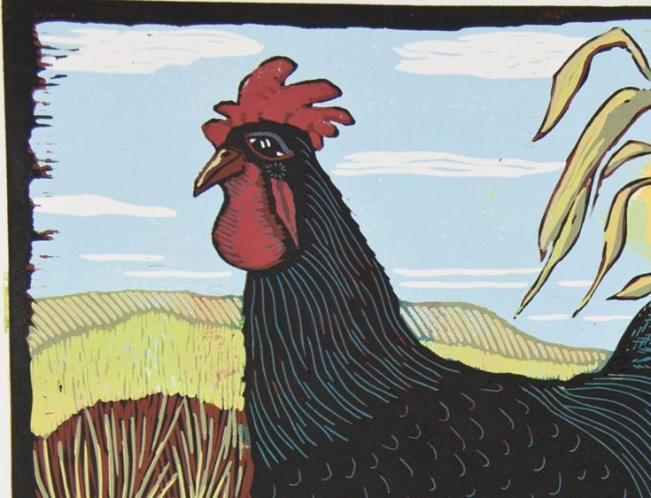Buy Rooster, Big Boy, reduction linocut, Linocut by Mariann Johansen-Ellis on Artfinder. Discover thousands of other original paintings, prints, sculptures and photography from independent artists.