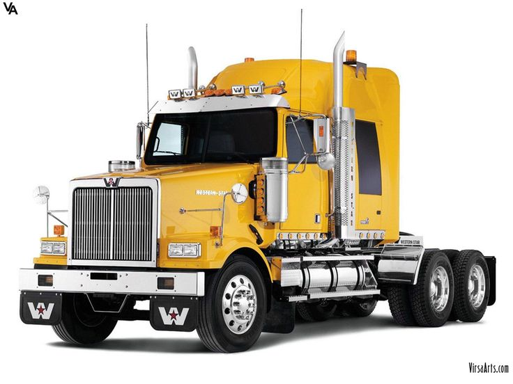 Yellow Western Star Truck