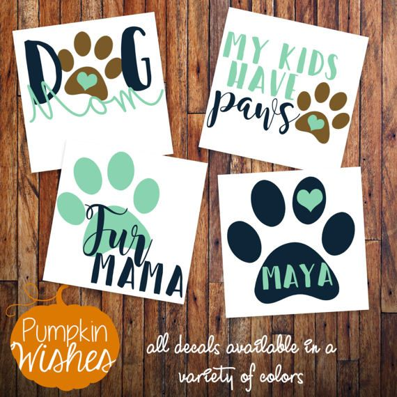 Dog Mom Decal/Fur Mama/Fur Friends Decal/Paw Mom by PumpkinWishes