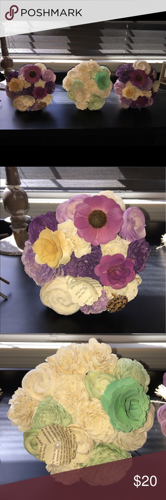 Eco Flower Bouquets Brand New never used. Smoke free home. I have 2 purple bouquets and 1 mint bouquet Eco flower Other