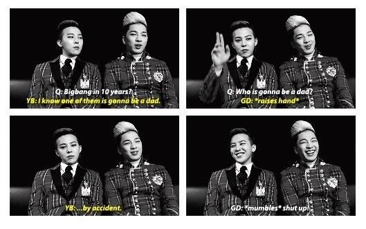GD and Taeyang ... I guessed Taeyang, but then I read the rest kekekeke