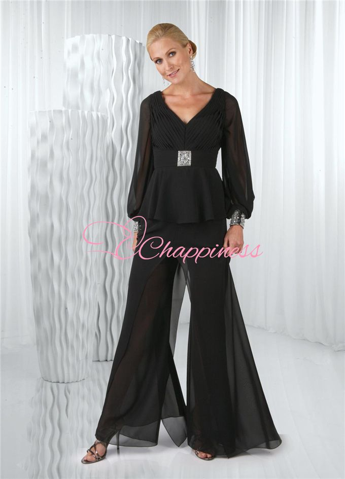 mother of the bride pant suits formal gowns black ladies