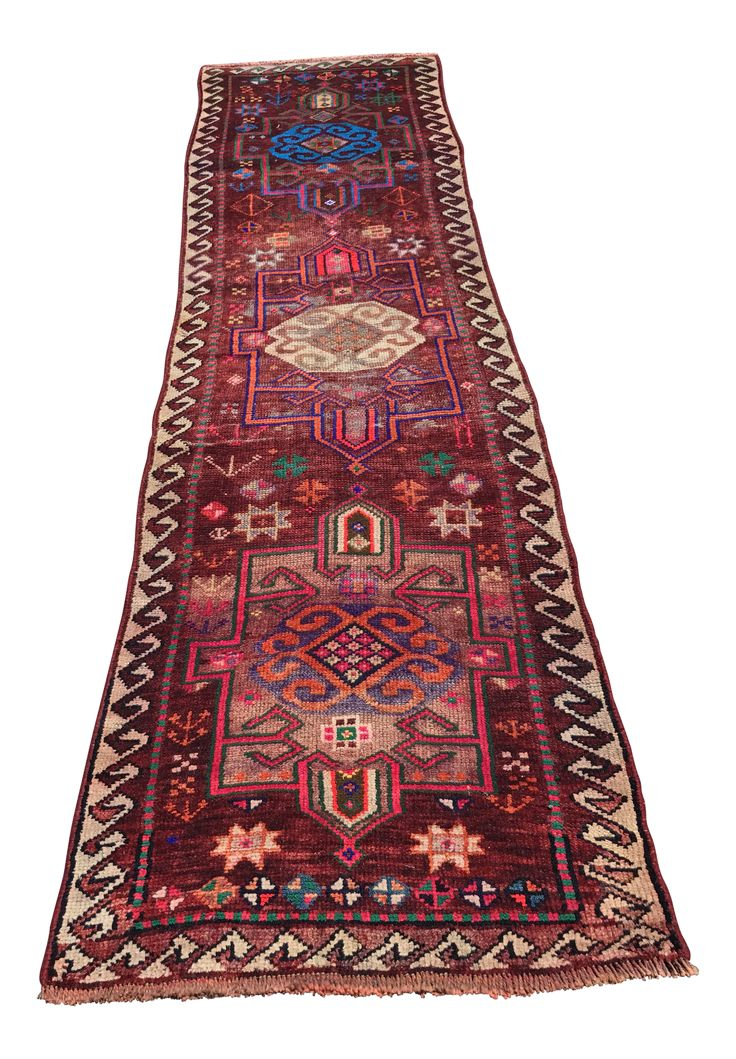 This colorful old vintage Turkish Oushak runner is a beautiful piece that is hard to find and it's in incredible shape for its age.  Thanks for visiting our shop! We have free shipping so that you can try before you buy.   We would love for you to follow us so that you can be the first to receive updates about our rugs that go live, and also be instantly alerted when a rug that you fav'd gets marked down or bid on, and here is how:  Click the Chairish link below and then click on turquois...