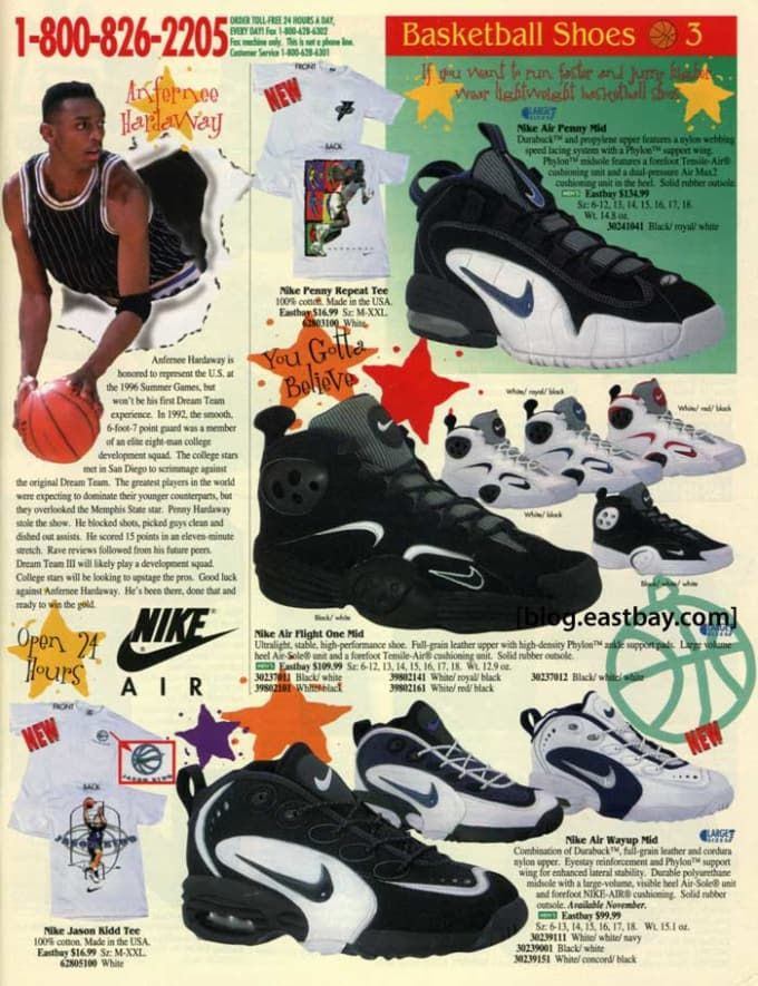 competitive price e0873 93ea8 Image result for nike eastbay catalog vintage 1990's ...
