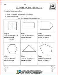 polygon worksheets 4th grade