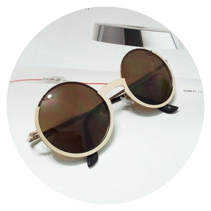 Gafas de sol redondas filtro Uv 100%